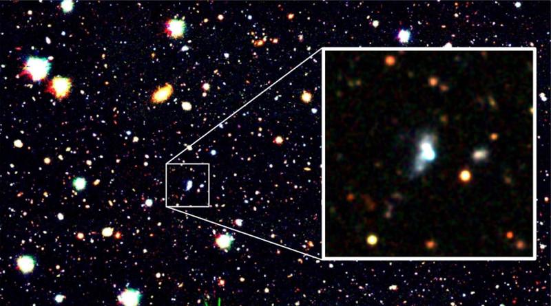 HSC J1631+4426 broke the record for the lowest oxygen abundance. CREDIT: NAOJ/Kojima et al.