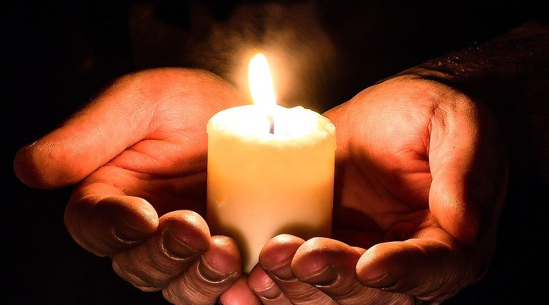 Hands Open Candle Candlelight Prayer Pray Give