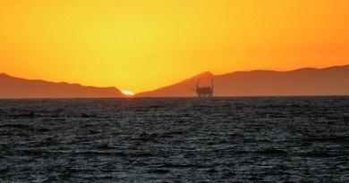 Platform Sunset Ocean Offshore Oil Rig Industry Sea