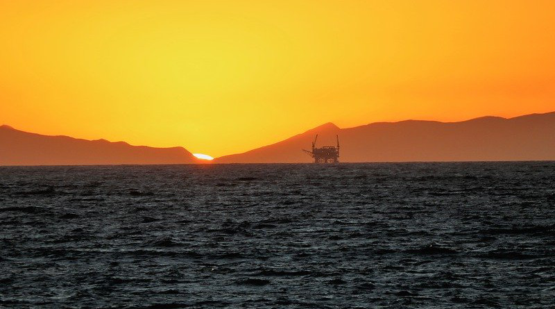 Platform Sunset Ocean Offshore Oil Rig Industry Sea