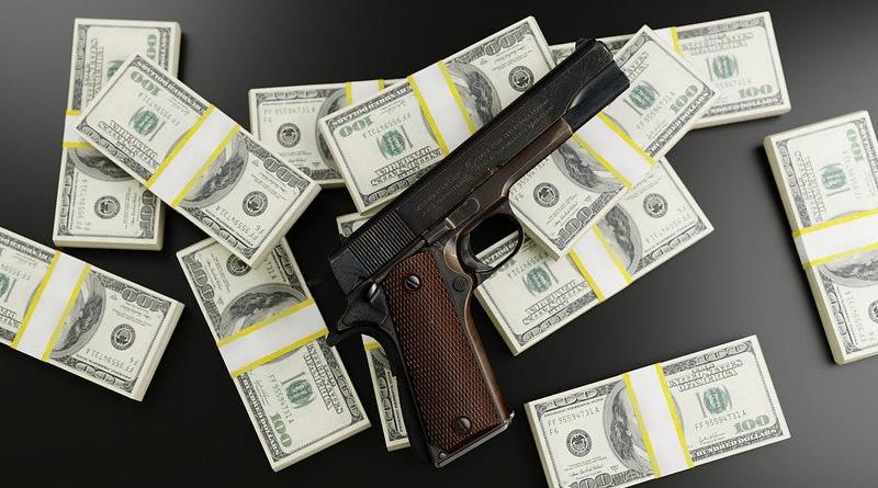 Money Dollars Gun Mafia Bribe Bloody Profit Rich