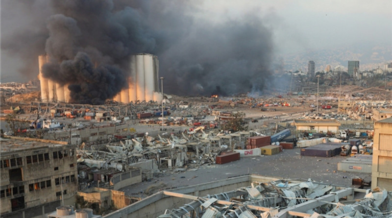 Explosions rock Beirut, Lebanon. Photo Credit: Fars News Agency