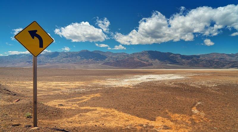 Change Decision Desert Direction Clouds Blue Sky