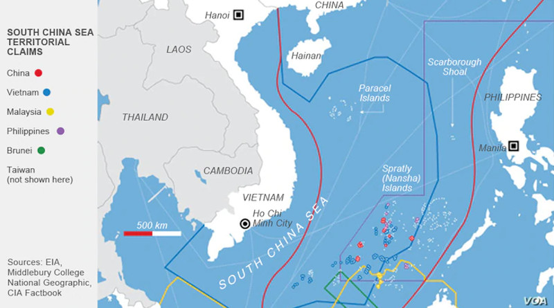 South China Sea Territorial Claims: Credit: VOA