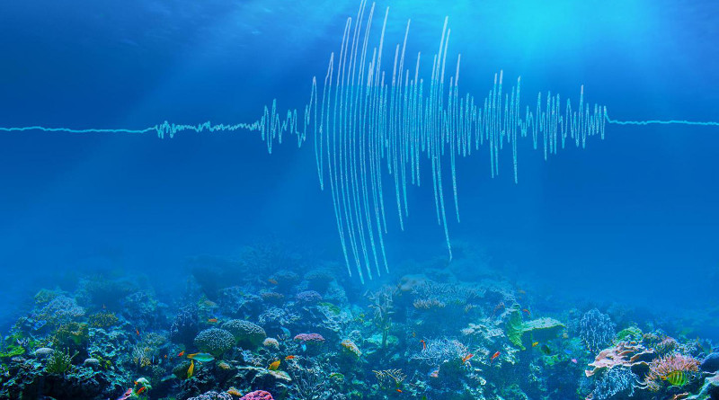 An artist's rendering of undersea earthquake waves. CREDIT: Caltech