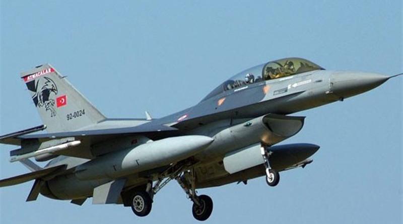 File photo of a Turkish F-16 jet. Photo Credit: Tasnim News Agency