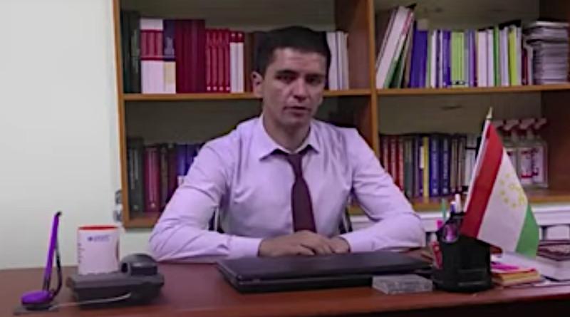 Tajikistan's Faromuz Irgashev in a screenshot from a campaign video