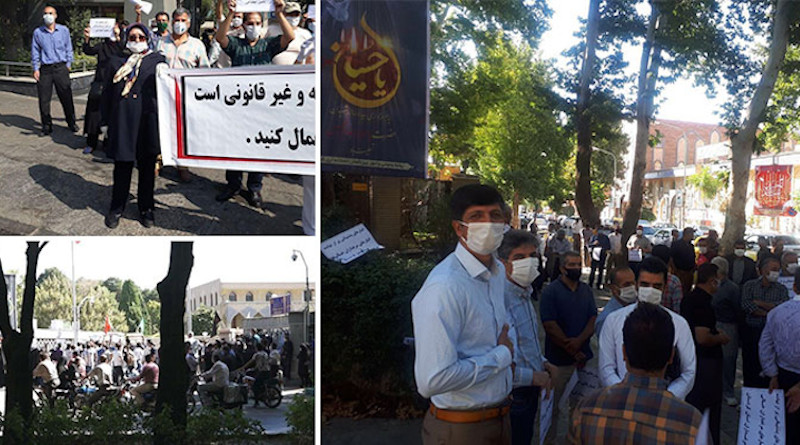 Montage of protests in Iran 2020. Photo Credit: Iran News Wire