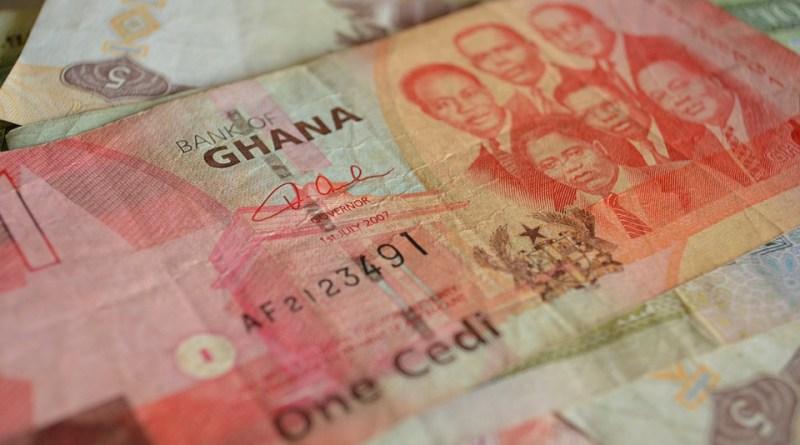 Africa Currency Note Paper Money Ghana Cedi Brown Money
