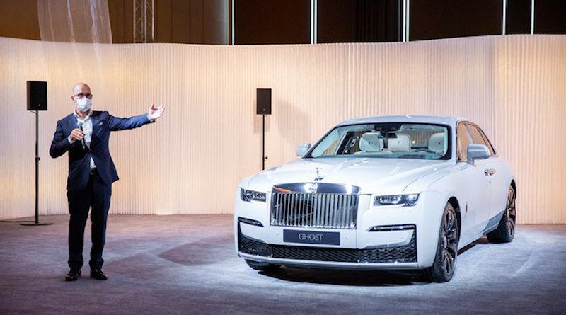 Rolls-Royce presents its new Ghost luxury automobile. Photo: Supplied
