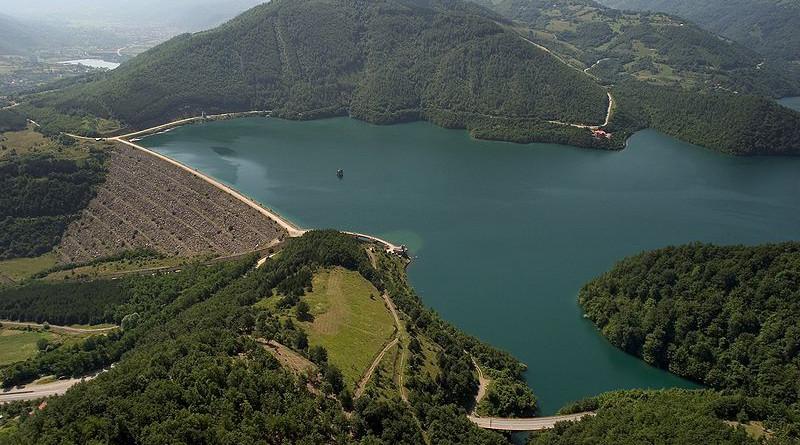 The body of water known by Serbs as Gazivoda Lake and by Kosovars as Ujman Lake. Photo Credit: Bobik, Wikipedia Commons