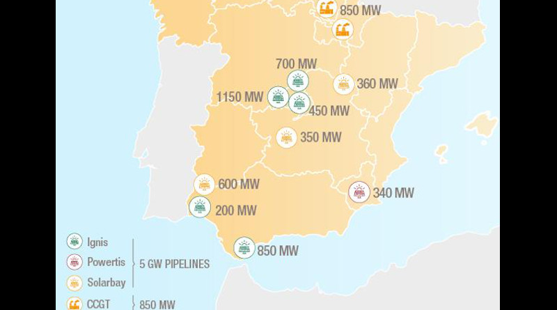 Total's renewable energy projects in Spain. Credit: Total