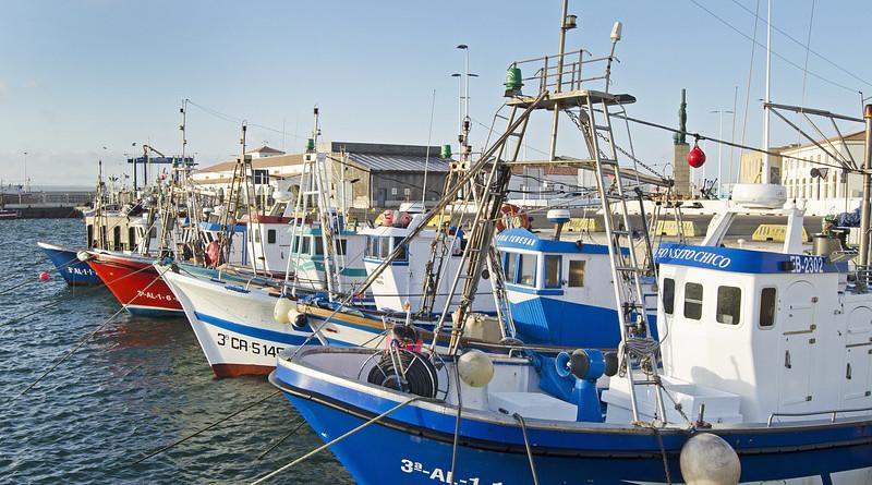 Fishing Boats Spain Harbor Port Blue Mediterranean