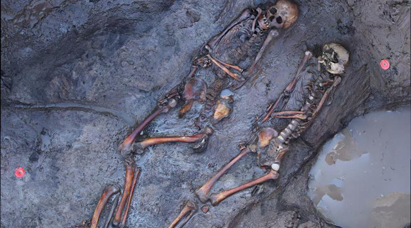 1700 years old skeletons of southsiberian steppe nomads site of Tunnug1. CREDIT: Tunnug 1 Research Project