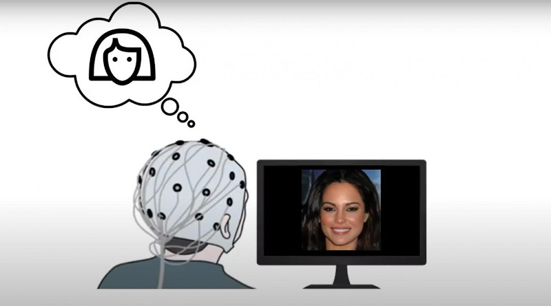 The images generated by the computer were evaluated by the participants. They nearly perfectly matched with the features the participants were thinking of. Screencap from video. CREDIT: Cognitive computing research group