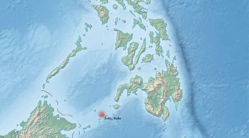 Location of Jolo, Sulu, Philippines. Photo Credit: Wikipedia Commons