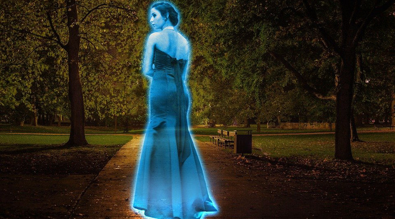 Ghost Hologram Light Illuminated Iridescent Female