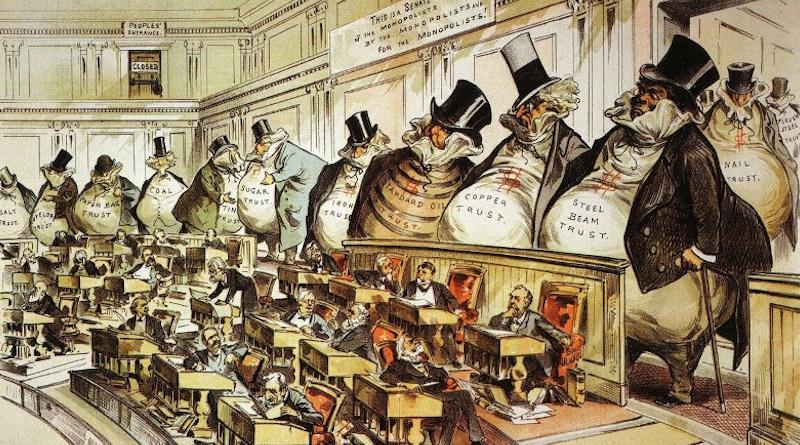 The Bosses of the Senate by Joseph Keppler. Source: Wikipedia Commons