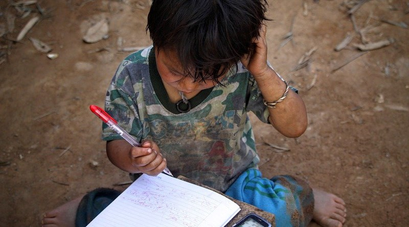phone Boy Child Pen Notebook Writing Poor Poverty