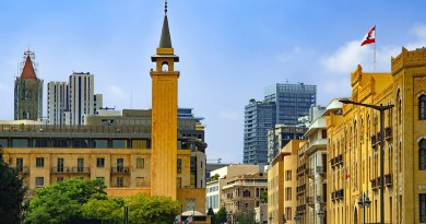 Beirut Lebanon Cityscape City Town Town Hall Mosque Buildings
