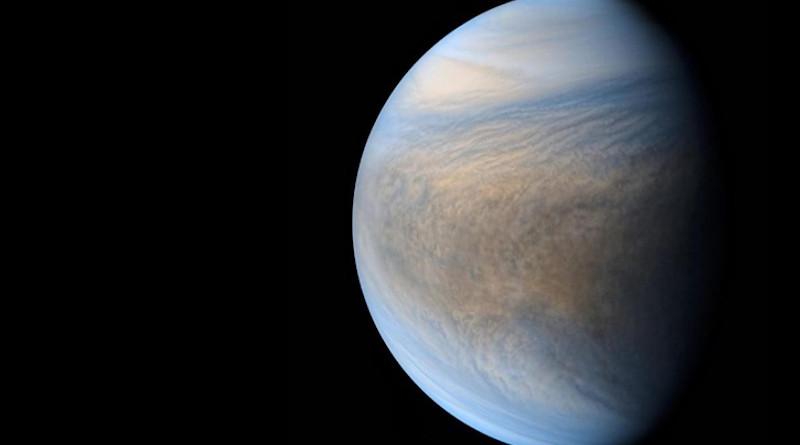 Composite of images taken by Japanese spacecraft Akatsuki of Venus. CREDIT: JAXA / ISAS / DARTS / Damia Bouic