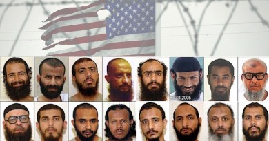 Photos of 16 of the 18 Yemenis sent from Guantánamo to Yemen between 2015 and 2017