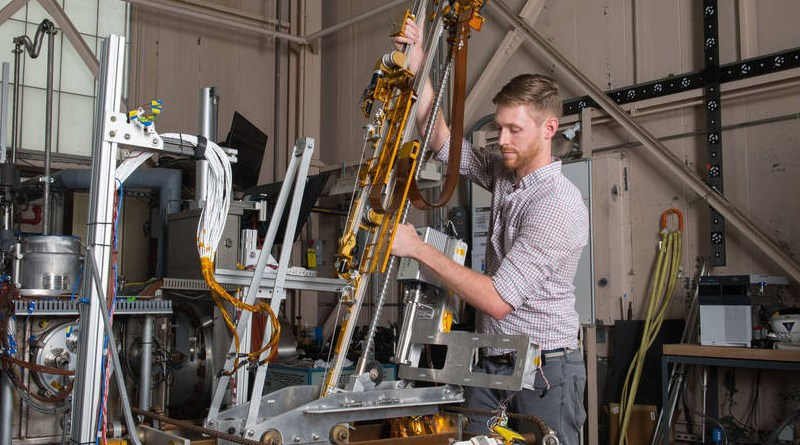 NASA has selected Intuitive Machines to deliver a drill combined with a mass spectrometer to the Moon. Credits: NASA