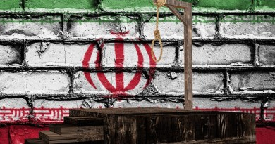 gallows death penalty hanging iran flag human rights