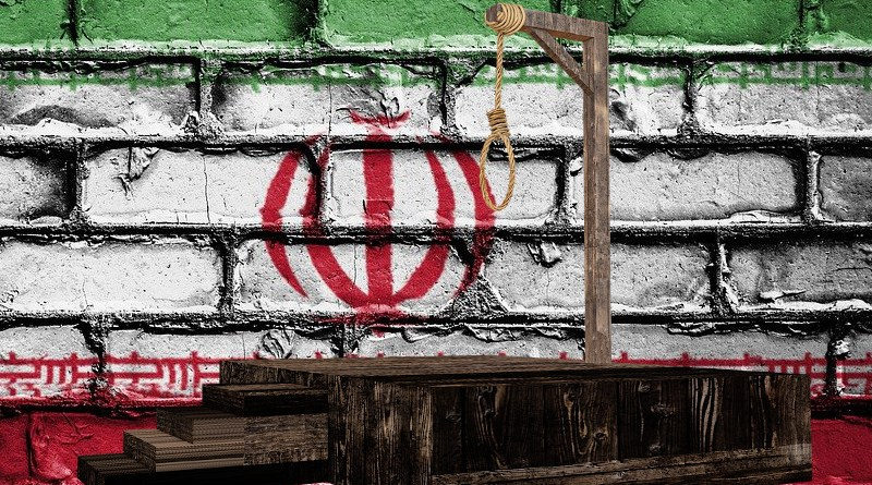 gallows death penalty hanging iran flag human rights
