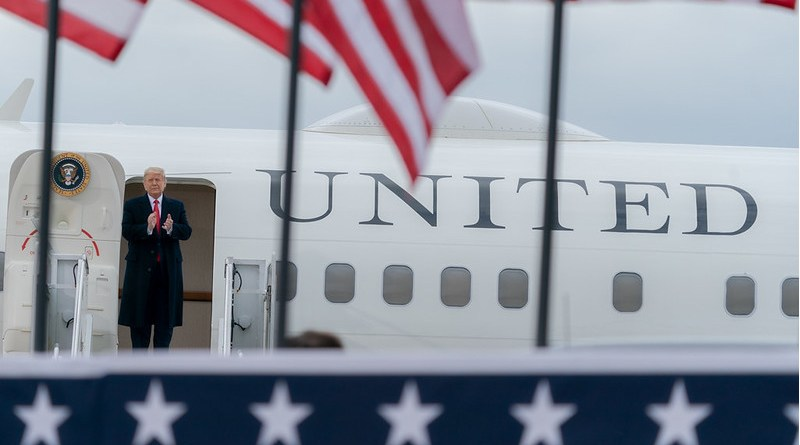 President Donald J. Trump disembarks Air Force One. Official White House Photo by Shealah Craighead