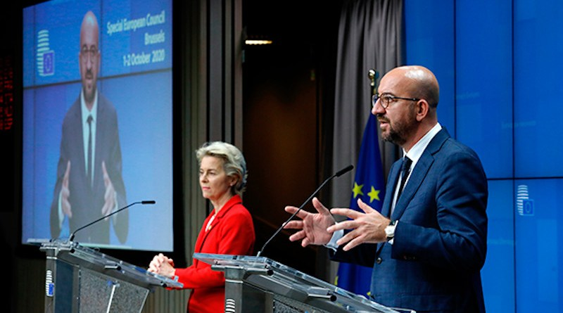 Ursula von der Leyen, president of the European Commission, and Charles Michel, president of the European Council at a press conference. Photo: ©European Union, 2020