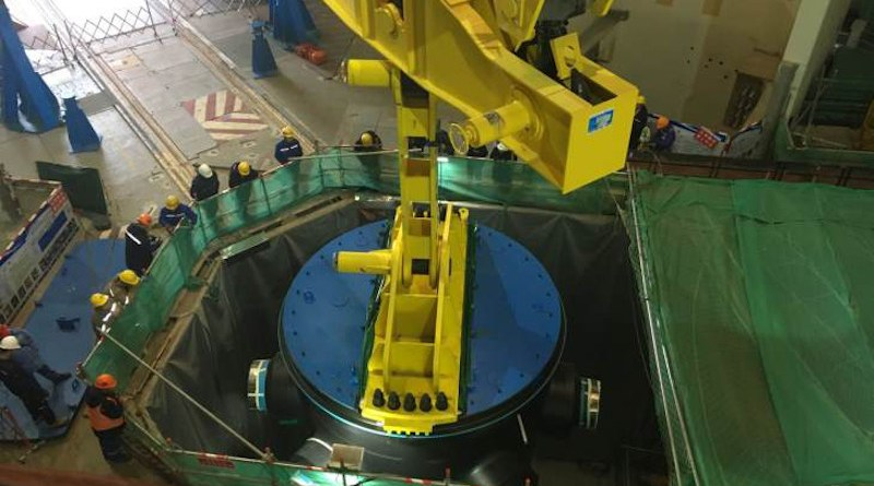 The reactor pressure vessel for Hongyanhe 6 was installed in December 2018 (Image: CGN)