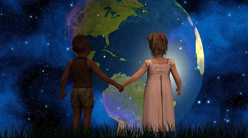 Globe United States Peace Children Forward America Usa South America Canada