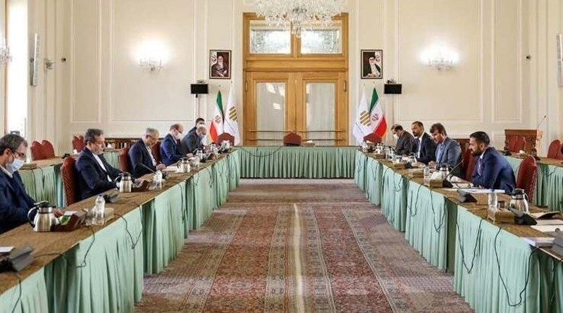 Diplomatic teams from Iran and Afghanistan. Photo Credit: Tasnim News Agency