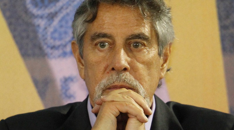 File photo of Peru's Francisco Sagasti. Photo Credit: Feria del Libro Ricardo Palma, Wikipedia Commons