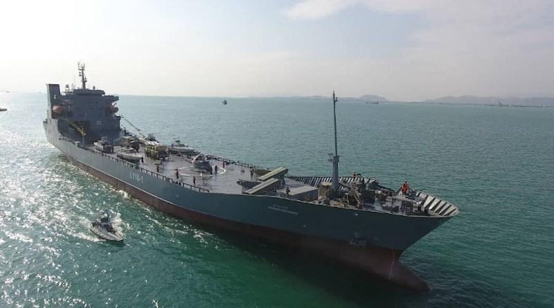 Iran Navy warship Abdollah Roudaki. Photo Credit: IRGC media outlet Sepah News