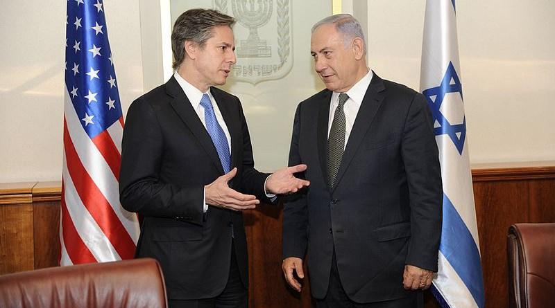 Tony Blinken meets with Israeli Prime Minister Benjamin Netanyahu in Jerusalem on June 16, 2016. Photo Credit: US State Department