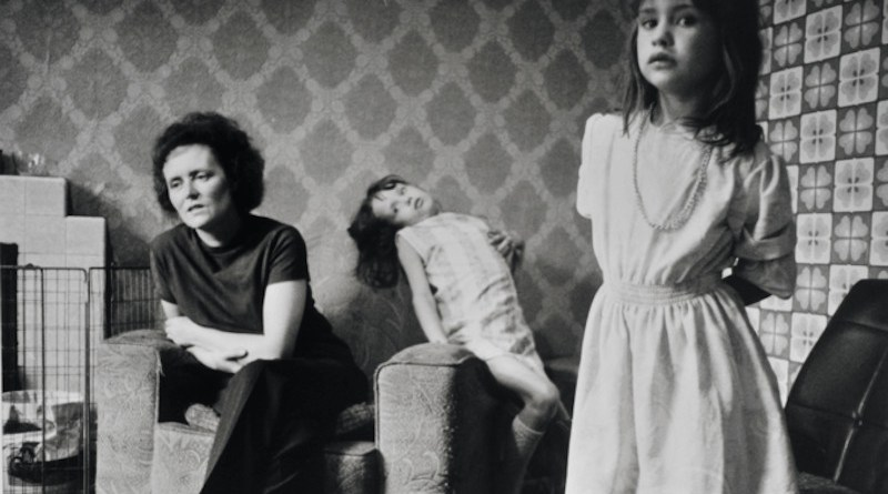 A British family from the film Smashing Kids, 1975. Photo by John Garrett.