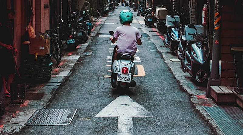 Alley Motorcycle Taipei Taiwan Scooter Street