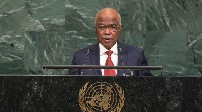 File photo of Chad's Hissein Brahim Taha speaking at UN in 2019. Photo Credit: Dachdach-22, Wikipedia Commons