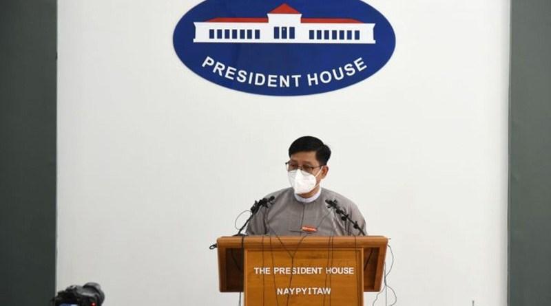 Myanmar government spokesman U Zaw Htay. Photo Credit: DMG