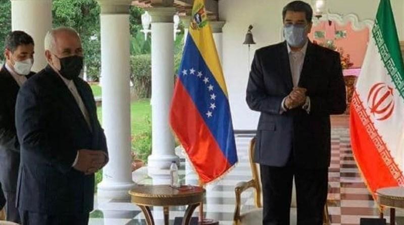 Iranian FM Zarif meets Venezuelan President Maduro in Caracas. Photo Credit: Tasnim News Agency