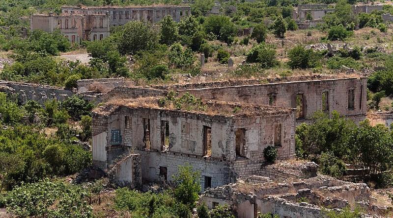 Ruins of Agdam, Azerbaijan. Photo Credit: KennyOMG, Wikipedia Commons