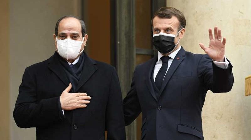 Egyptian President Abdel-Fattah El-Sisi with France's President Emmanuel Macron. Photo Credit: Egyptian presidency