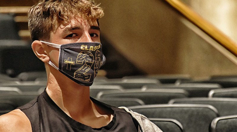 coronavirus covid-19 Man Face Mask Student Theater School Education