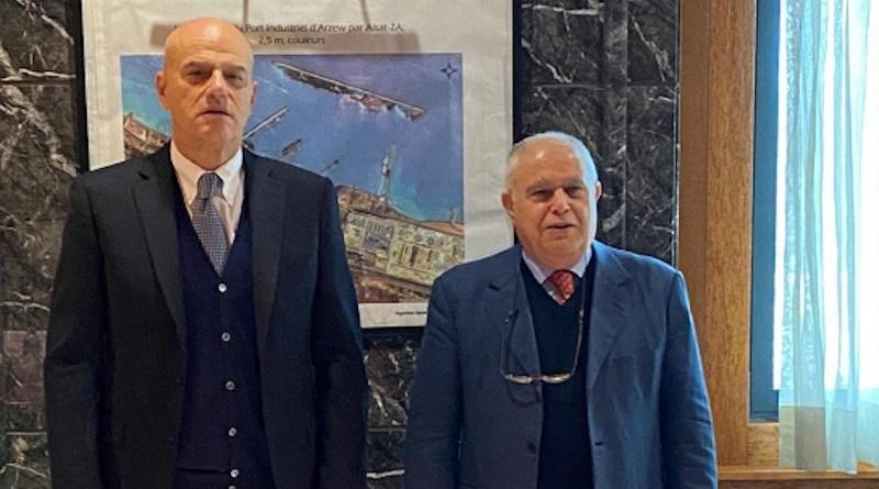 CEO of Eni, Claudio Descalzi and Algerian Minister of Energy, Abdelmadjid Attar. Photo Credit: Eni