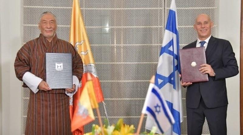 Israel establishes diplomatic relations with Bhutan. (Photo: via Twitter)
