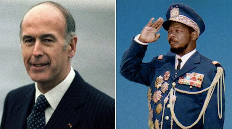 Late French President Valéry Giscard d'Estaing and 'Emperor' Bokassa of the Central African Republic.