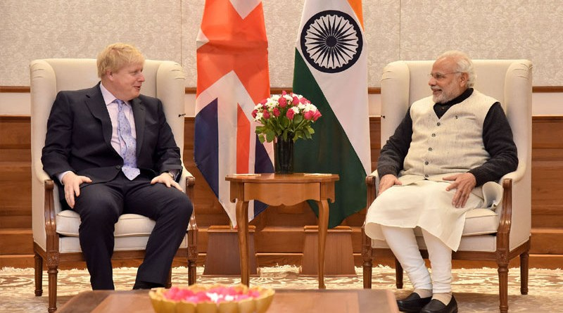 Boris Johnson, as Secretary of State for Foreign and Commonwealth Affairs of UK, meeting with India's Prime Minister Shri Narendra Modi. Photo Credit: PM India