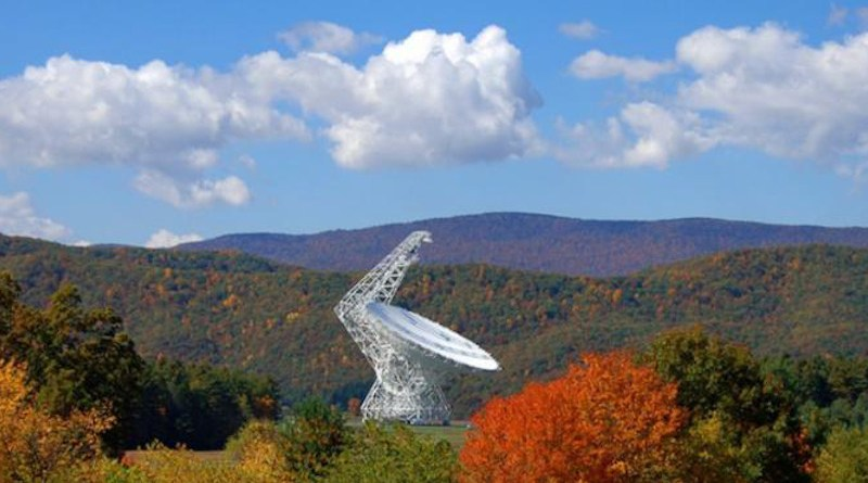 Green Bank Telescope in West Virginia, USA CREDIT Credit: GBO / AUI / NSF